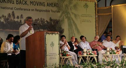 Shri Sitaram Yechury speaking at the inaguration