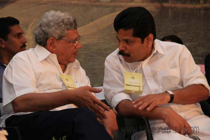Shri Sitaram Yechury with Shri A P Anil Kumar at the International Conference on RT at Kumarakom