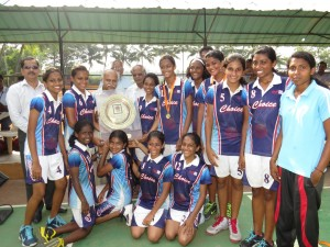 The Choice School with the inter-school basketball trophy at Toc H Public School