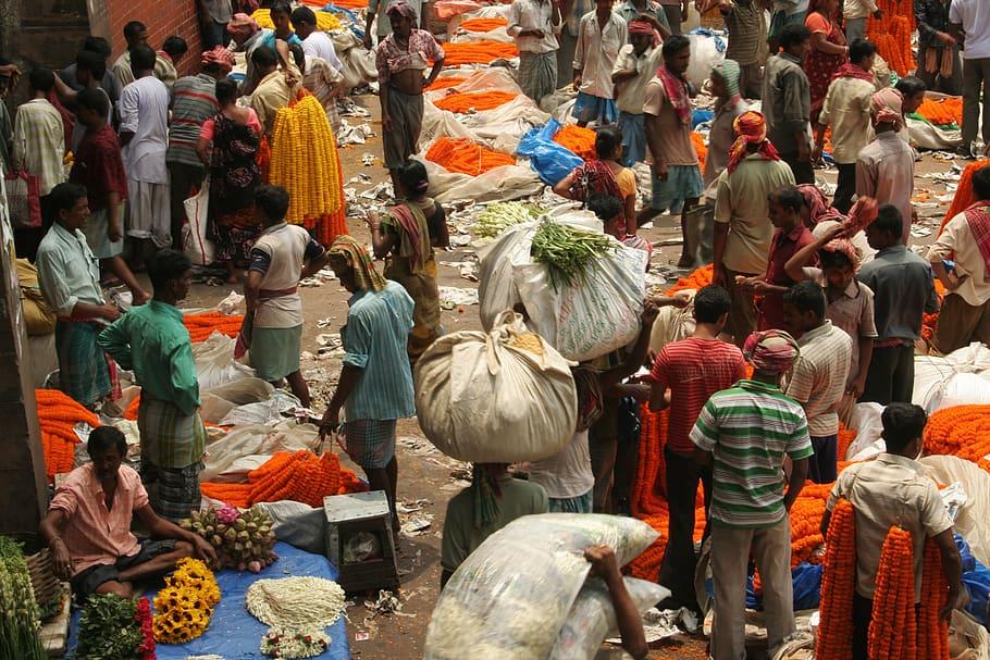 Wholesale flower market India